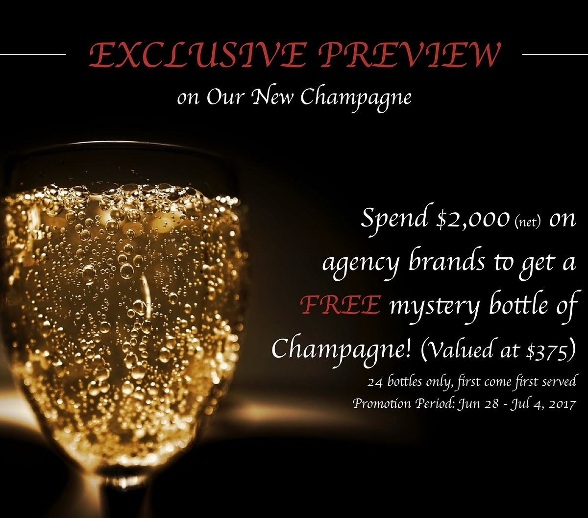 New Champagne Arriving Soon!