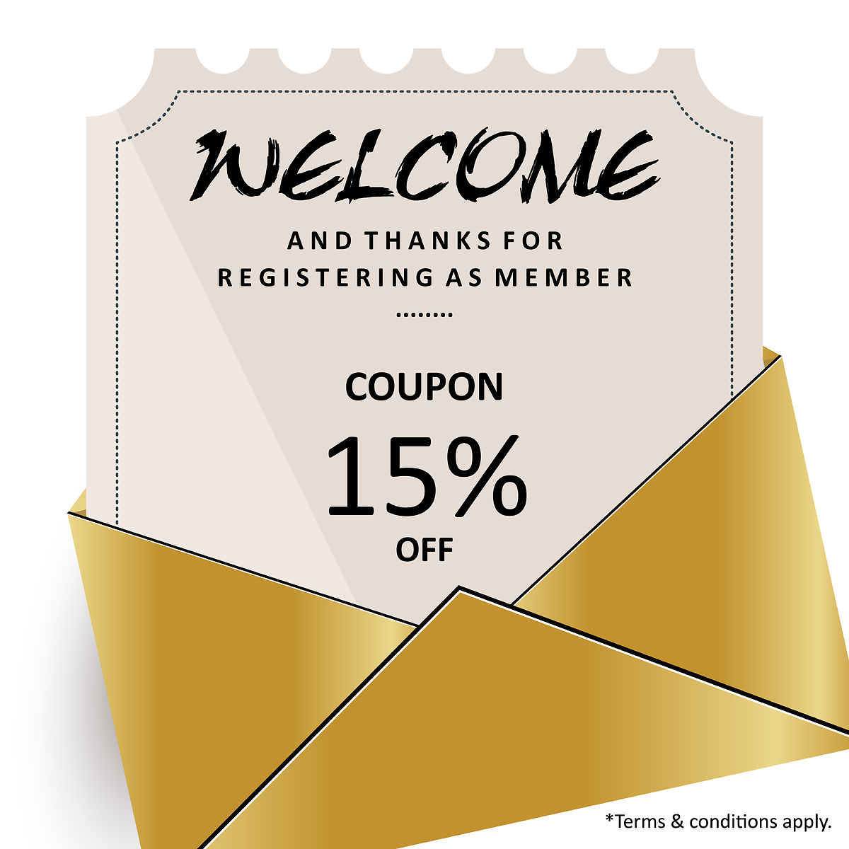 Register as our Member (15% off)